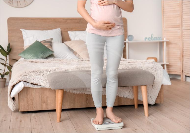 scadere in greutate in ultimul trimestru de sarcina)